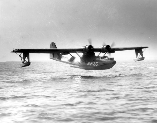 Catalina PBY landing on water
