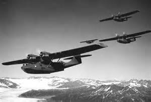 Catalina PBY three in flight