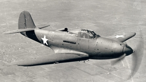 Bell Airacobra P 39 in flight