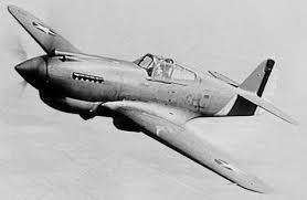 P 40 Curtiss Warhawk in flight