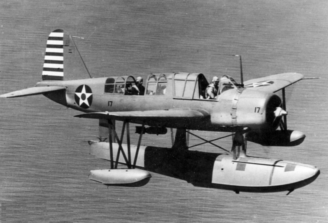 OS2U 2 Kingfisher in flight 1942